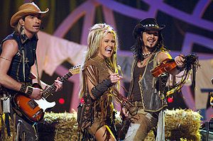 Rednex - 2007-2008 Rednex lineup of (left to right) Anders Lundström, Annika Ljungberg and Jens Sylsjö.