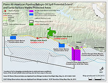 Refugio Oil Spill Wikipedia - Map of oil pipeline ruptures in the us