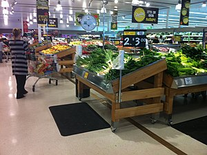 English: Inside a refurbished Coles Supermarket