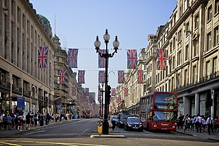 Regent Street Shopping street in London