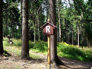 Rennsteig - Image: Rennsteigschild