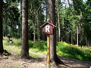 Rennsteig hiking trail in Germany