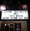 Rethink Afghanistan, Clinton Street Theater marquee in Portland.jpg
