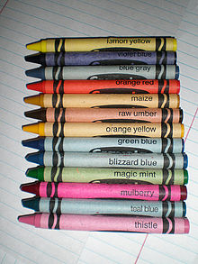 Thirteen retired Crayola crayons no longer produced