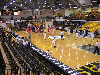 UMBC Retrievers - The Retriever Activities Center prior to the 2008 America East Conference Championship Game