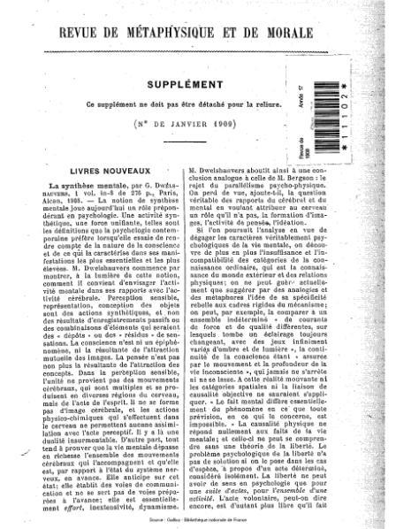 File:Revue de métaphysique et de morale, supplément 1, 1909.djvu