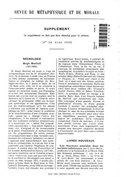 File:Revue de métaphysique et de morale, supplément 2, 1910.djvu