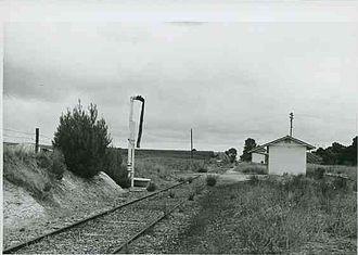 Willunga railway line - Reynella railway station in 1968
