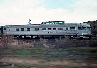 Rio Grande Zephyr - Silver Sky on one of the last Rio Grande Zephyr runs in 1983
