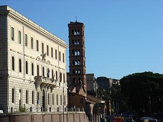 Piazza Bocca della Verità square in Rome, Italy