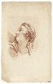 Ritstudie på kvinna med hårprydnad och halsband, 1700-tal - Skoklosters slott - 99191.tif