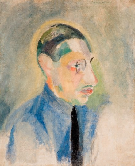 Portrait of Stravinsky (1918) by Robert Delaunay, in the Garman Ryan Collection Robert Delaunay - Portrait of Stravinsky.tif