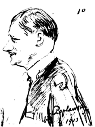 Robert Poplawski - Dean Poplawski caricatured by Pazzi in 1913