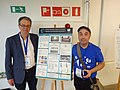 Robin Owain and Inaki Luzuria, with Poster by Wikimedia Levant Members at Palestine, at EduWiki 2019 Conference 2.jpg