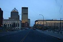Rochester - Court Street at night.jpg