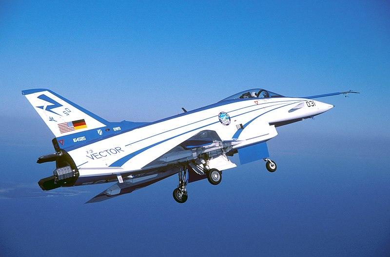 Rockwell-MBB X-31 landing.JPG