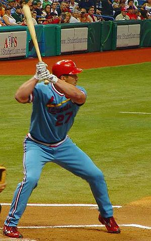 Scott Rolen - Rolen batting for the Cardinals in 2006