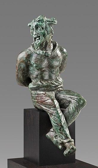 Roman Gaul - Roman Bronze Statuette of a Captive Gaul, 2nd Century AD