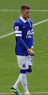 online retailer 9c4b9 2fbbe Barkley playing for Everton in 2013