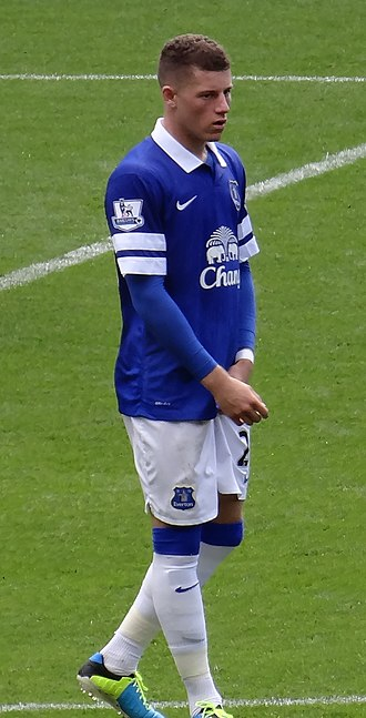 Ross Barkley - Barkley playing for Everton in 2013