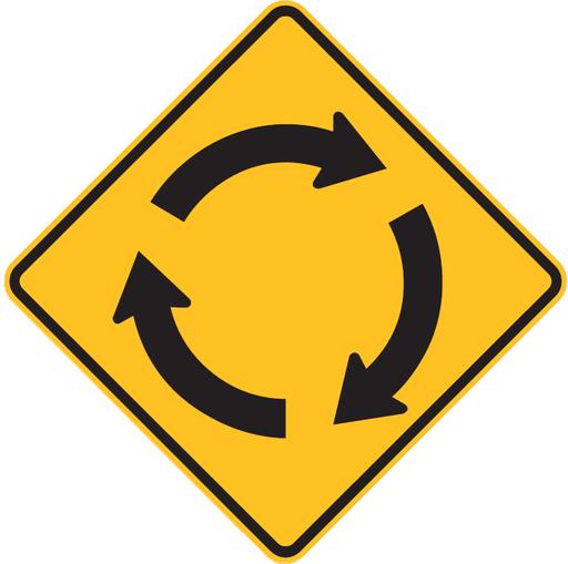 Roundabout Ahead (Australia) (W2-7)