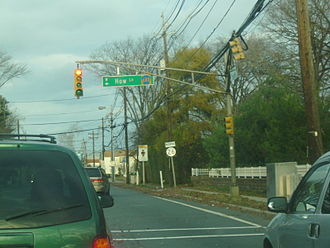 New Jersey Route 26 - Route 26 heading northbound through North Brunswick (at County Route 680)