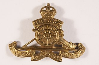 79th (Hertfordshire Yeomanry) Heavy Anti-Aircraft Regiment, Royal Artillery - RA cap badge