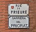 Rue du Prieuré (Toulouse)- Plaques.jpg