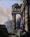 Ruines avec la statue d'Esculape.jpg