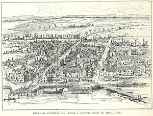 Hampton, Virginia - The ruins of Hampton in 1862