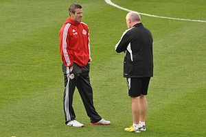 Ryan Nelsen - Nelsen (left) as coach of Toronto FC in 2013