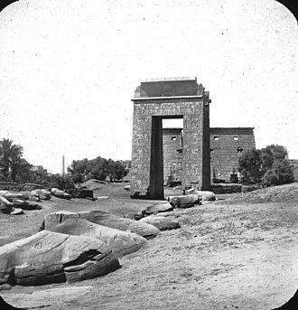 Karnak - Egypt - Gate of Pylon, Karnak. Brooklyn Museum Archives, Goodyear Archival Collection