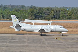 SAAB 340AEW of the Royal Thai Air Force at Khon Kaen (11348690443).jpg