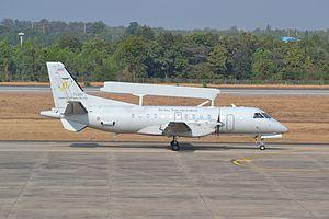 Saab 340 AEW&C - Image: SAAB 340AEW of the Royal Thai Air Force at Khon Kaen (11348690443)