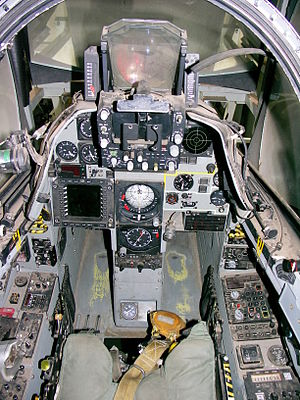 Atlas Cheetah - Cockpit of the Cheetah D flight simulator