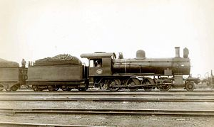 South African type WG tender - Image: SAR Class 8X 882 (2 8 0)