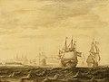 SA 24187-Nederlandse schepen in de Sont-Nederlandse schepen in de Sont voor de Deense kust.jpg