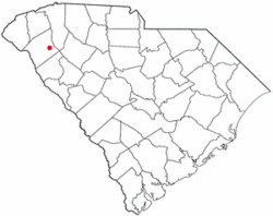 Location in Anderson County, South Carolina