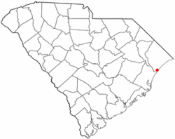 Location of Garden City inSouth Carolina