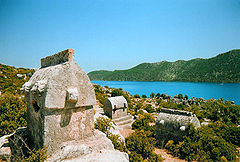 Lycian tombs in Simena