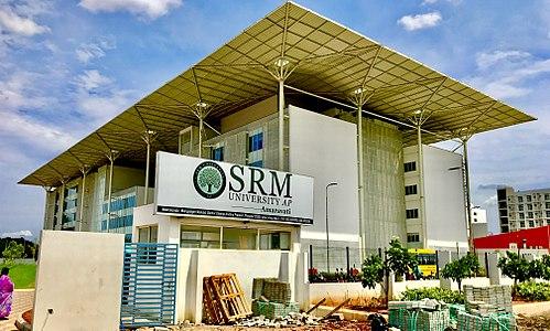 SRM University board and Entry of SRM University Amaravati.jpg