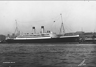 RMS Empress of Britain (1905) - SS Empress of Britain at Liverpool in 1905.