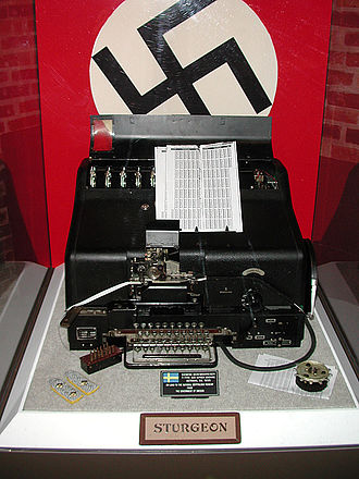 """Siemens and Halske T52 - """"STURGEON"""" exhibit at the US National Cryptologic Museum."""