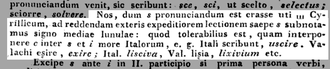 """S-comma - S """"half moon"""" proposed as a letter in the Buda Lexicon."""