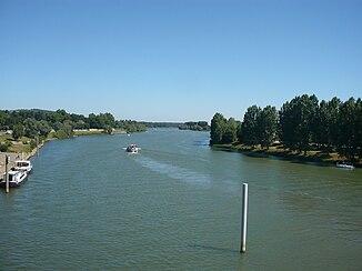 Saône in Tournus