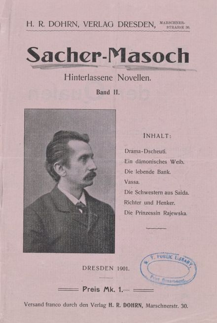 A Sacher-Masoch compilation published in 1901