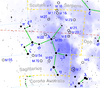 Sagittarius constellation map