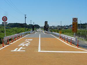 Kesennuma Line - BRT roadway near Saichi Station, completed in 2012