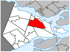 Saint-Lazare, Quebec - Image: Saint Lazare Quebec location diagram