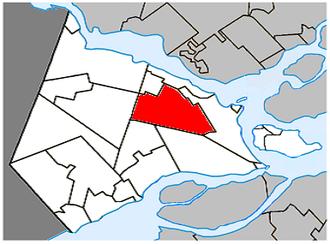 Saint-Lazare, Quebec - Image: Saint Lazare Quebec location diagram